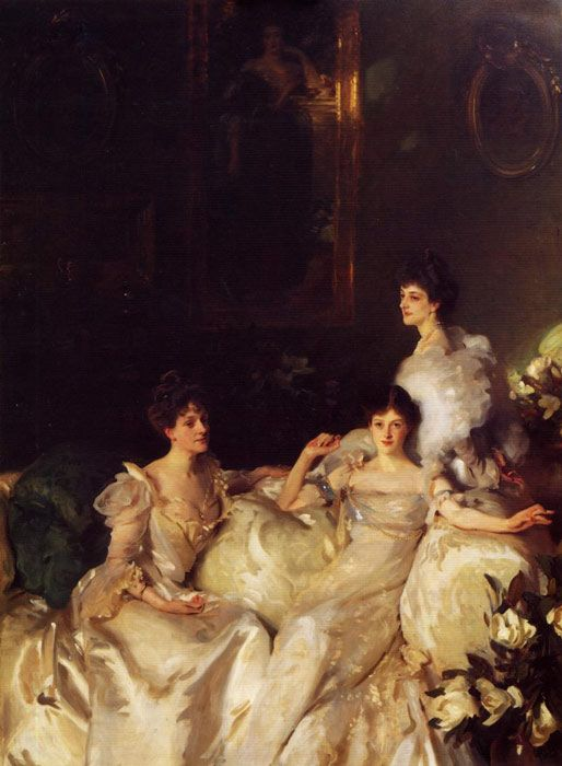 John Singer Sargent Paintings-The Wyndham Sisters, 1899
