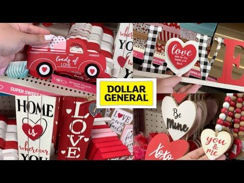 Is Dollar General Open On Christmas Day 2021 New Dollar General Valentine S Day Decor 2021 Youtube In 2021 Dollar General Diy Dollar Tree Diy Holiday Crafts
