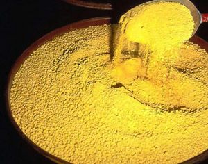 Yellowcake - the end product of mining is liquid with ...