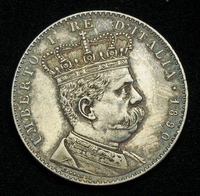 World Coins Collection Eritrea Italian Colony 2 Lire Silver Coin King Umberto