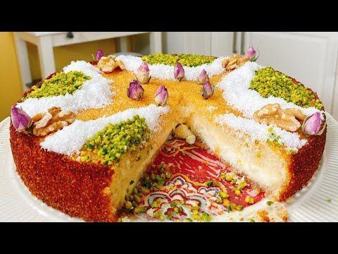 بسبوسة نمبر وان بالقشطة مع كل اسرار نجاح البسبوسة وطريقة عمل القشطة السريعة لكل الحلويات Youtube Food Desserts Cooking