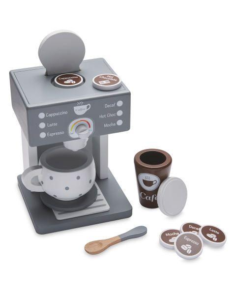 Wooden Coffee Machine Toy Aldi