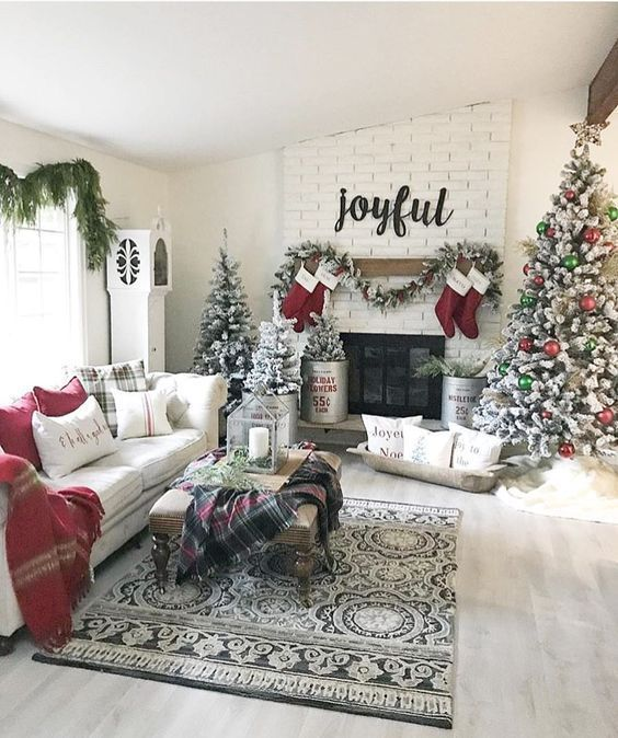 100 Warm Festive Red And White Christmas Decor Ideas