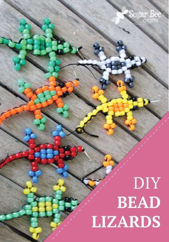 pony bead lizard tutorial pony beads activities and ponies
