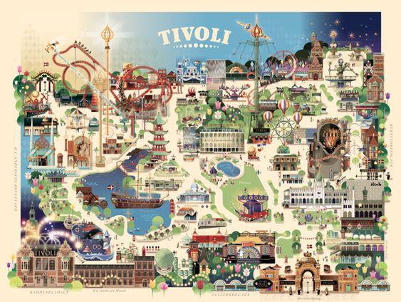 Tivoli Gardens Map - Copenhagen