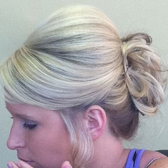 Wedding updo...love the bump but i wish there was more to the back