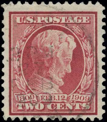 Collectors Corner - Scott# 369, 1909 2c Carmine bluish paper, PSE NG 0, Used