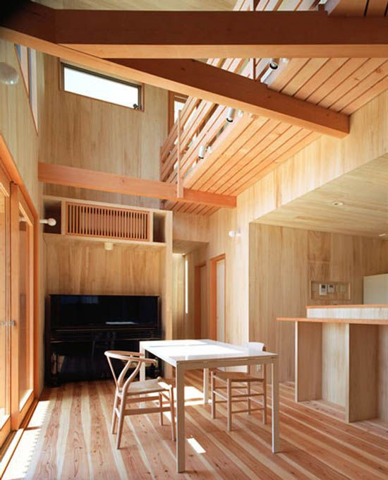 Danish Home Interior Design: Use Of Wood And Traditional Japanese