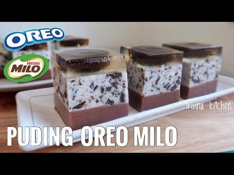 Puding Lapis Oreo Milo Oreo Milo Agar Jelly Cake Trivina Kitchen Youtube Oreo Recipes Puding Oreo Jelly Desserts