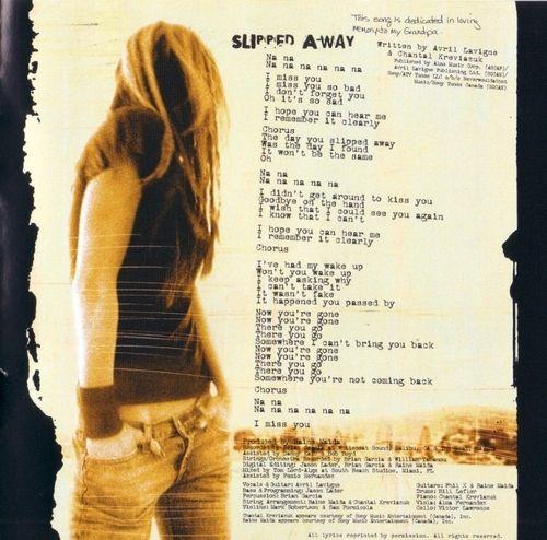 SLIPPED AWAY Chords - Avril Lavigne | E-Chords