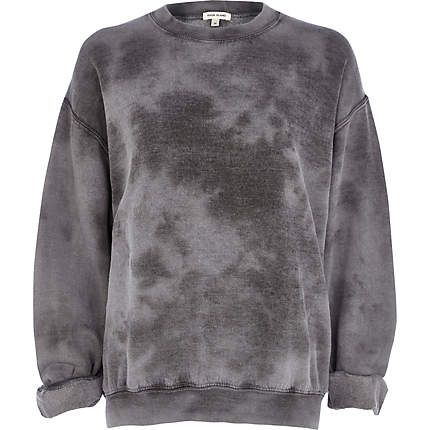 Grey tie dye brushed sweatshirt - 40,00 €
