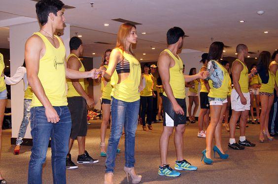 preparando la coreografía del evento final