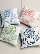 """Catalina 18"""" Square Embroidered Throw Pillow   linensource"""