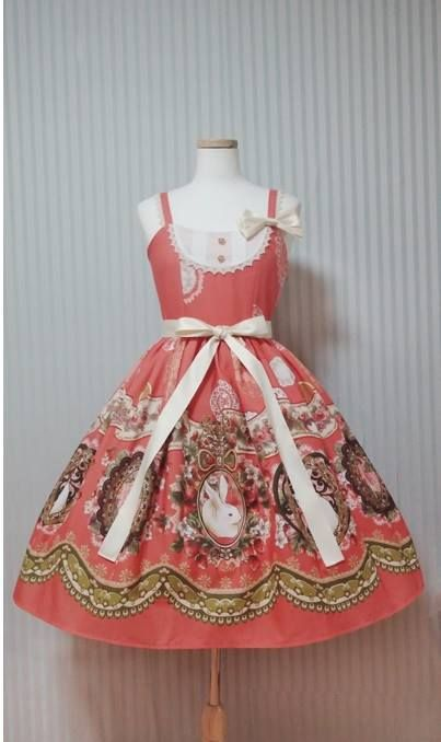 Lief Gardenberries Rabbit JSK in L/XL (Carrot) « Lace Market: Lolita Fashion Sales and Auctions