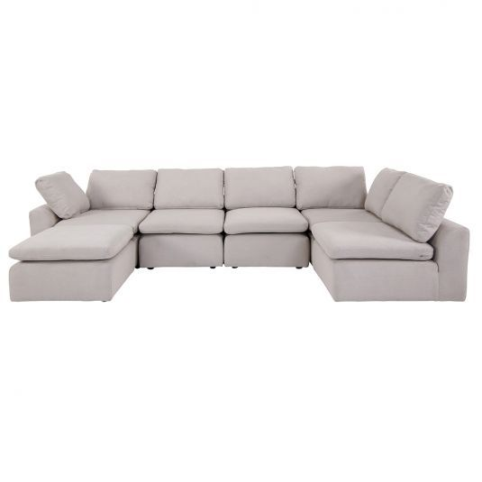 High Performance Fabric Feather And Fiber Blend Seats And Backs Completely Modular Configure Many Ways Mat Furniture Jerome S Furniture Contemporary Sofa