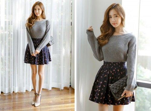 Cách kết hợp chân váy xòe với áo len đang được nhiều chị em tìm kiếm.