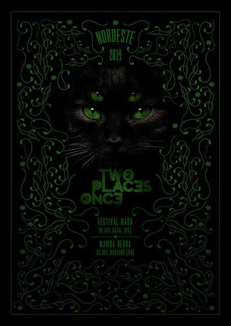 Poster // Two Places At Once (02)   Site: www.2placesatonce.com  Facebook: www.facebook.com/2placesatonce   Direção de arte, ilustração e montagem.