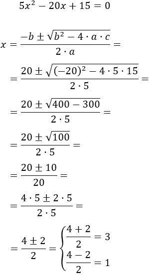 Resolvemos La Ecuación De Segundo Grado Completa 5x 2 20x 15 0 Educacion Matematicas Blog De Matematicas Matematicas Avanzadas