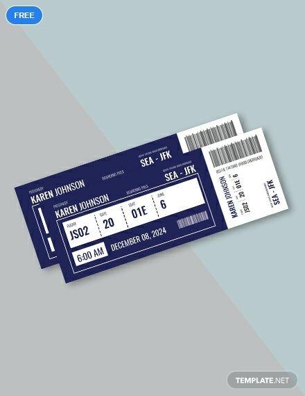 Free Plane Ticket 티켓 디자인 티켓 초대장