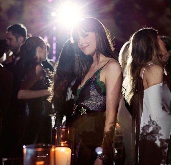 Dakota Johnson snaps from the Met Gala in NY - 3 May 2016