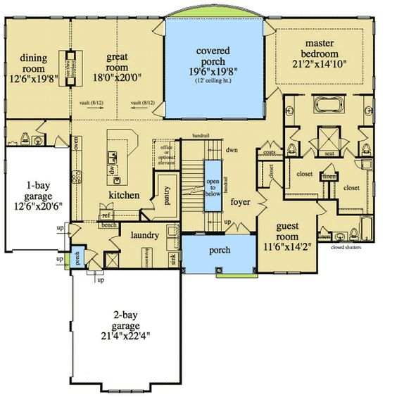Plan 29804rl 4 beds with elevator and basement options Elevator home plans