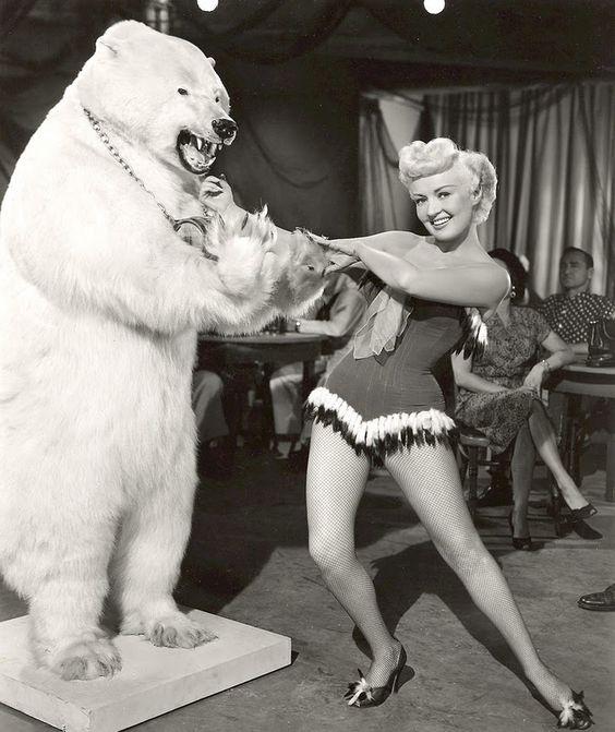 Betty Grable and Polar Bear