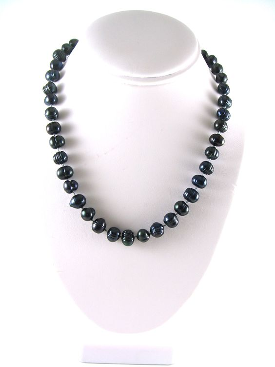 Hand knotted fresh water pearl necklace