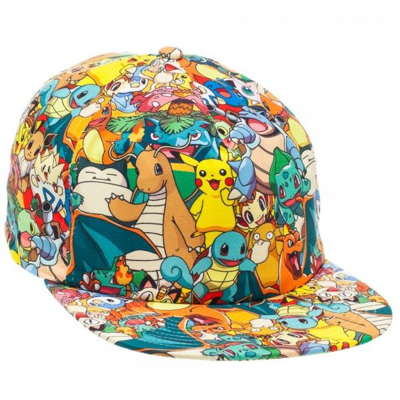 Pokemon All Over Print Snapback: