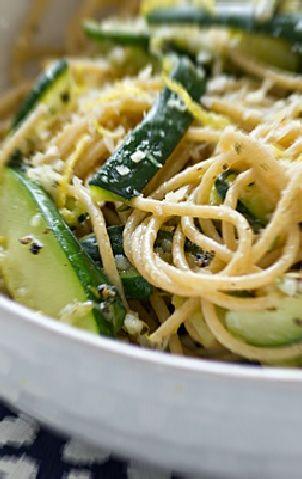 Low FODMAP and Gluten Free Recipe - Zucchini and Feta Pasta  http://www.ibssano.com/low_fodmap_recipe_zucchini_feta_pasta.html