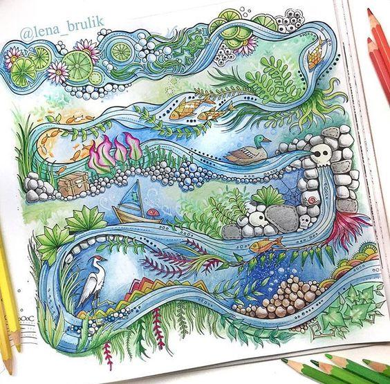 Inspirational Coloring Pages by @lena_brulik #inspiração #coloringbooks #livrosdecolorir #jardimsecreto #secretgarden #florestaencantada #enchantedforest #reinoanimal #animalkingdom #adultcoloring #johannabasford #lostocean #oceanoperdido