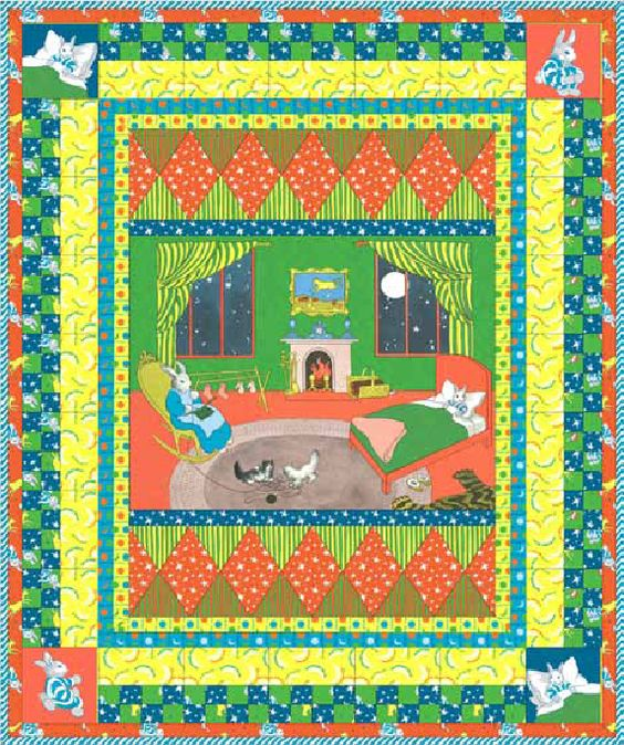 Goodnight moon quilt pattern from quilting treasures www for Moon pattern fabric