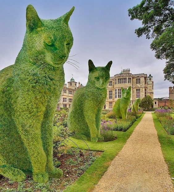 Good Morning Everyone. It's always difficult to know what to post first but I think this is a winner Rich Saunders photoshops his cat into scenes like this. His book is titled 'Topiary Cats'. Great idea he had.pic.twitter.com/ktZ0LHS2YL