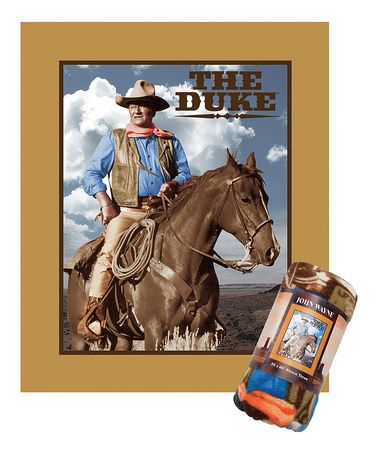 Love this John Wayne Fleece Throw Blanket by John Wayne on #zulily! #zulilyfinds