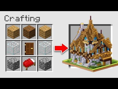 How To Make A House Using Crafting Table On Minecraft Minecraft Pocket Edition Minecraft Crafts Minecraft Designs Minecraft Banner Designs