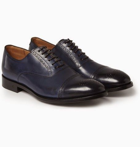 In The Navy: Paul Smith Berty Leather #Brogues ~ #SHOEOGRAPHY