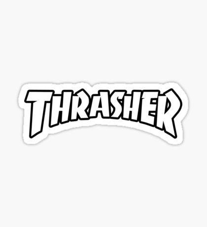 白文字のスラッシャーのロゴ