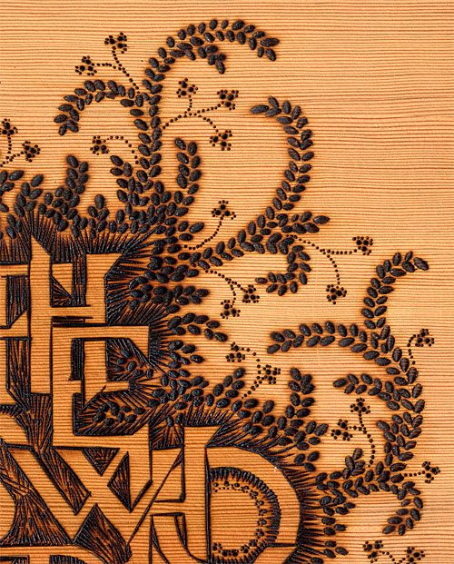 Creative Review Monograph | Marian Bantjes... done in burned wood 'All the Boys who Loved Me'. Big talent