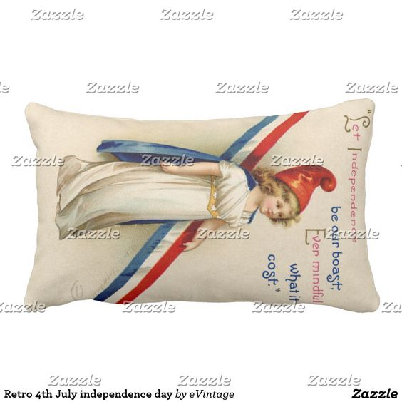 Retro 4th July independence day Pillow