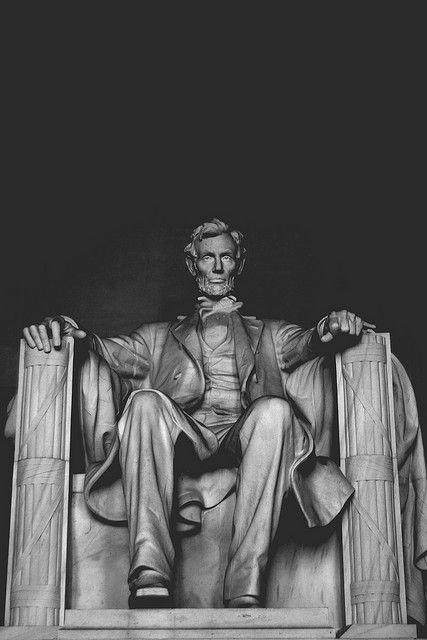 Abraham Lincoln Memorial Black And White