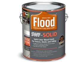 ... Flood Solid Color Deck Stain | Flood. Sold at Home Depot and Menards