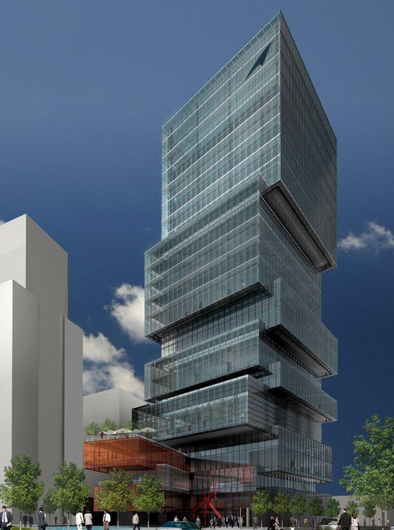 EDIFICIO INSTITUCIONAL DE CORREOS- POST OFFICE TOWER- Competition Finalist   ZERAFA ARCHITECTURE STUDIO   Archinect