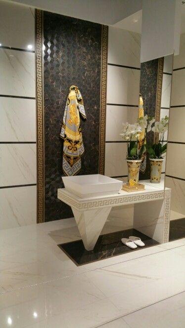 Brilliant Versace Bathroom By Our Genius Tile Installer Traditionalbathroom