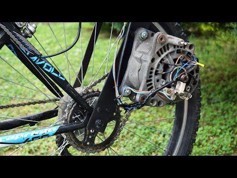 Electric Bike From Car Parts Homemade E Bike Diy Youtube Electric Bike Diy Biking Diy Electric Bike Motor