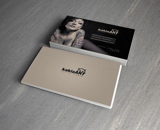 Kakia tattoo studio free psd business card by mct2art for Tattoo business card templates
