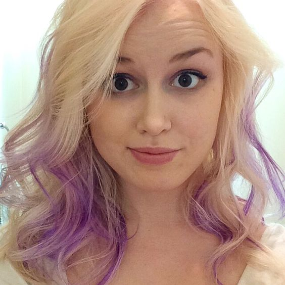 platinum blonde with purple hair pinterest platinum