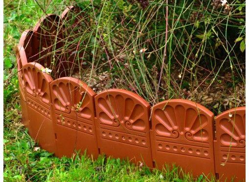 Bordure décorative de jardin marron - Jardin et Saisons
