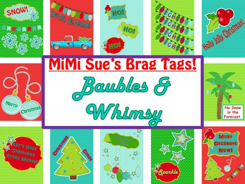 "This Playful Set of Brag Tags is entitled ""Baubles & Whimsy"".  Brag Tags promote Positive Behaviors and a Healthy Social Climate in the class..."