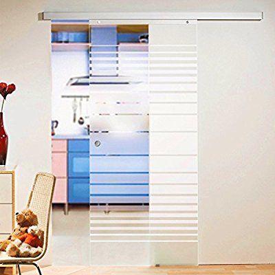 Schiebetür Glas-Schiebetür Zimmertür 880x2035mm Innentür - innenturen aus holz schiebeturen
