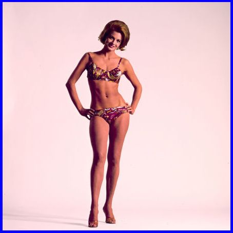 Angie Dickinson looking pretty incredible in that bikini  1967