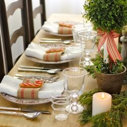 Get inspired by this gorgeous and simple Christmas table setting.